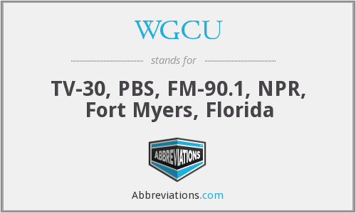What does WGCU stand for?