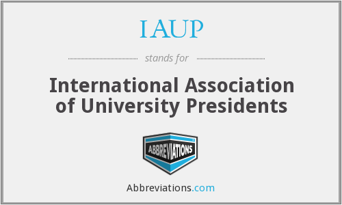 What does IAUP stand for?