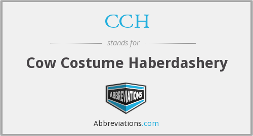 What does haberdashery stand for?