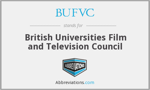 What does BUFVC stand for?