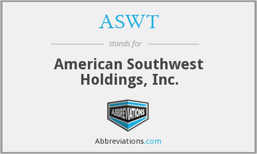 What does ASWT stand for?