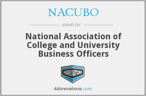 What does NACUBO stand for?