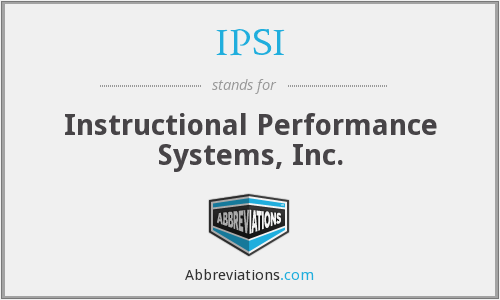 What does IPSI stand for?
