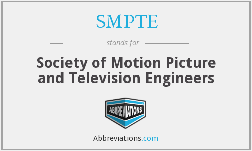 What does SMPTE stand for?