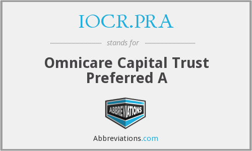 What does IOCR.PRA stand for?