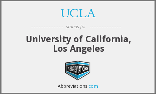 What does UCLA stand for?