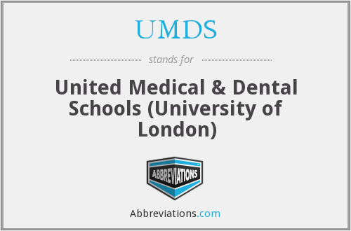 What does UMDS stand for?