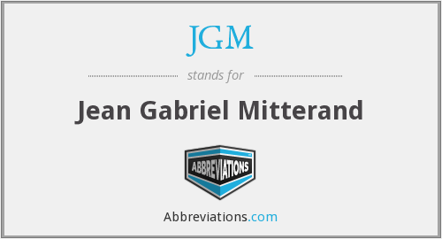What does JGM stand for?