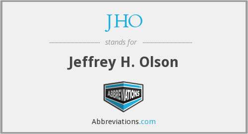 What does JHO stand for?