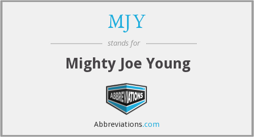 What does MJY stand for?