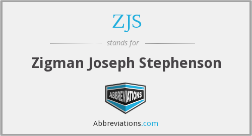 What does ZJS stand for?