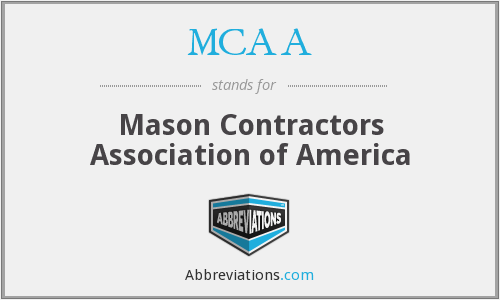 What does MCAA stand for?