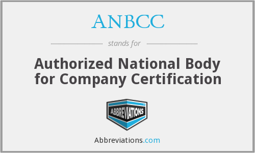What does ANBCC stand for?