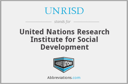 What does UNRISD stand for?