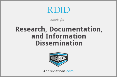 What does RDID stand for?
