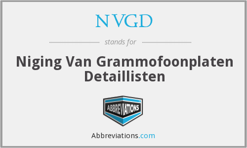 What does NVGD stand for?