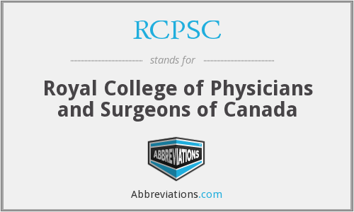 What does RCPSC stand for?