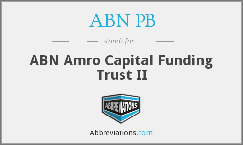 What does ABN PB stand for?