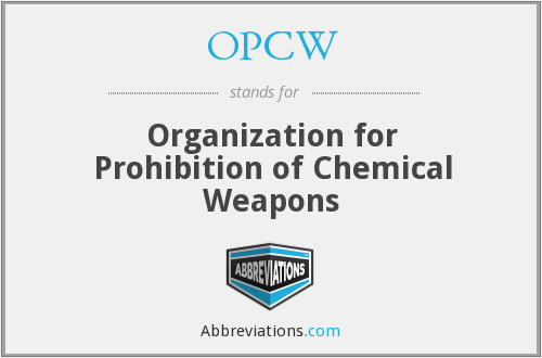 What does OPCW stand for?