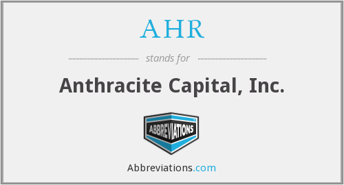 What does AHR stand for?