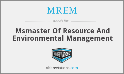 What does MREM stand for?