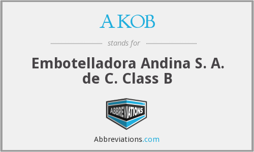 What does AKOB stand for?