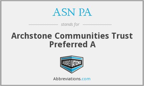 What does ASN PA stand for?