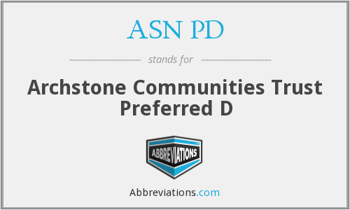 What does ASN PD stand for?