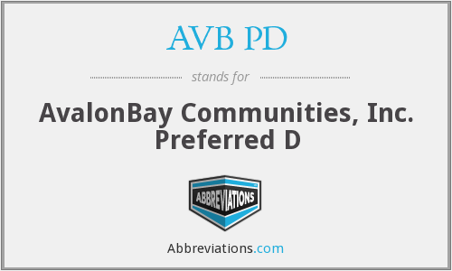 What does AVB PD stand for?
