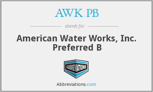 What does AWK PB stand for?