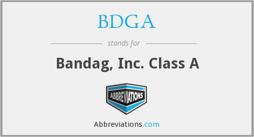 What does BDGA stand for?