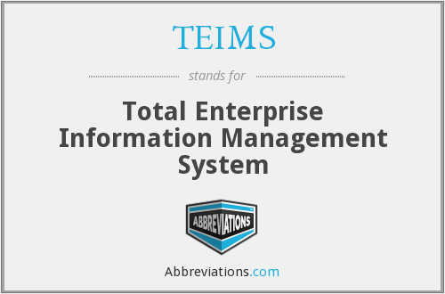 What does TEIMS stand for?