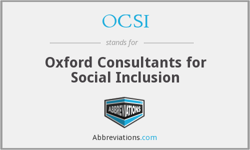 What does OCSI stand for?
