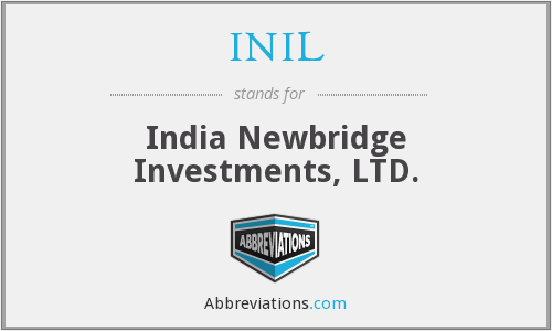 What does INIL stand for?