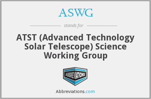 What does ASWG stand for?