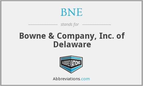 What does BNE stand for?