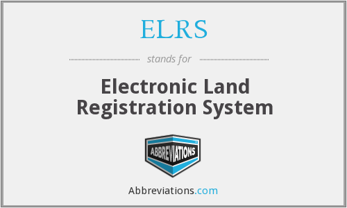 What does ELRS stand for?