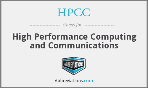 What does HPCC stand for?