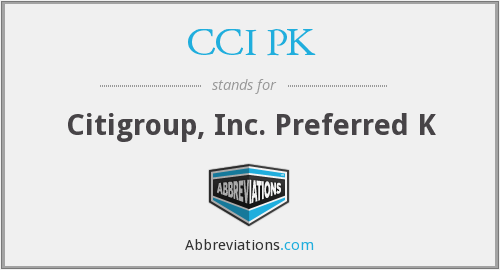 What does CCI PK stand for?