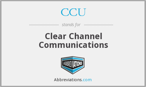 What does CCU stand for?