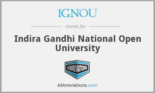 What does IGNOU stand for?