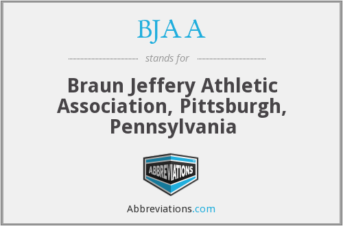 What does BJAA stand for?