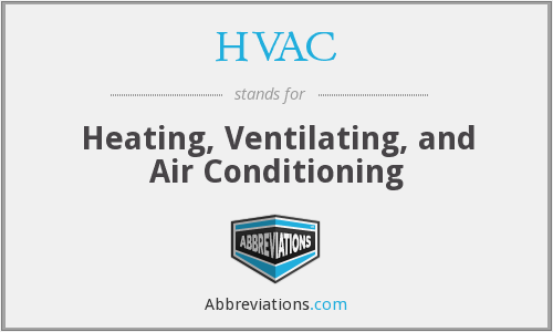 What does HVAC stand for?
