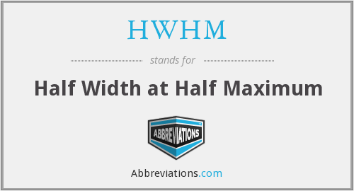 What does HWHM stand for?