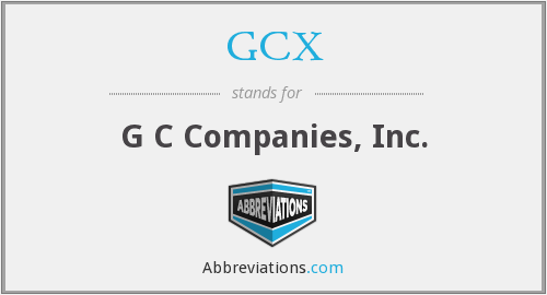 What does GCX stand for?