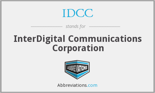 What does IDCC stand for?