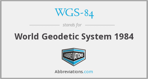 What does WGS-84 stand for?