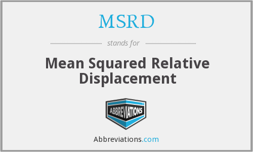 What does MSRD stand for?