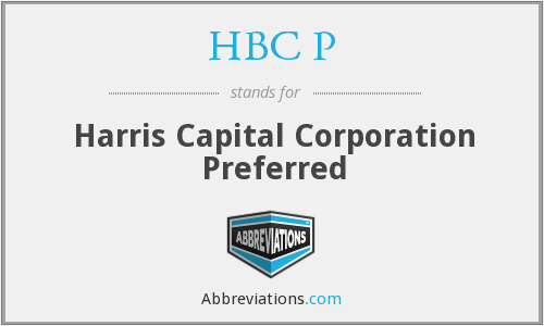What does HBC P stand for?