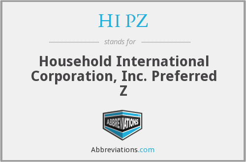 What does HI PZ stand for?